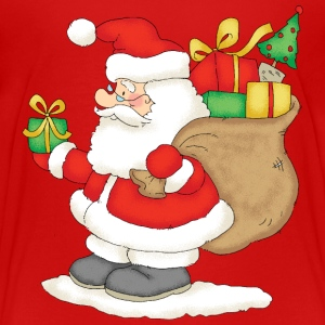 Santa Claus with bag of gifts - Kids' Premium T-Shirt