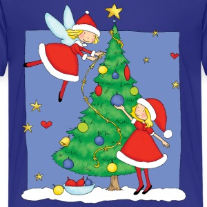 Christmas Angels decorating tree - Kids' Premium T-Shirt