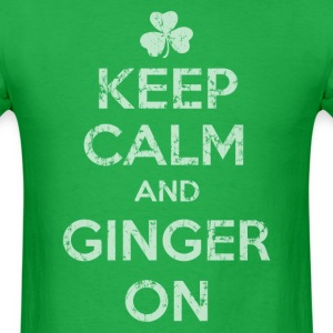 Keep Calm and Ginger On - Men's T-Shirt