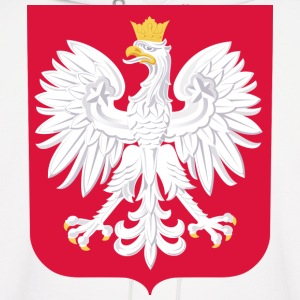 Polish White Eagle Crest - Men's Hoodie