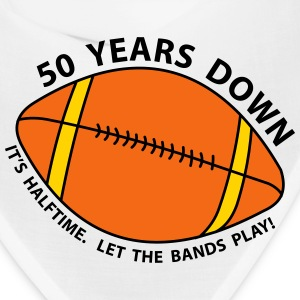 50th Birthday Football Caps - Bandana