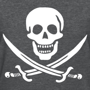 Jolly Roger Pirate Womens Tee - Skull and Crossbon - Women's T-Shirt