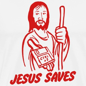 Jesus saves T-Shirts - Men's Premium T-Shirt