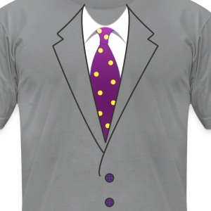 Suit & Tie - Men's T-Shirt by American Apparel