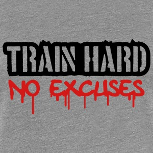 Train Hard No Excuses Logo Women's T-Shirts - Women's Premium T-Shirt