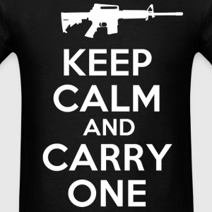 keep calm and carry one - Men's T-Shirt
