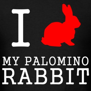 i love my palomino rabbit - Men's T-Shirt