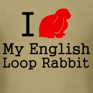 i love my english loop rabbit - Men's T-Shirt