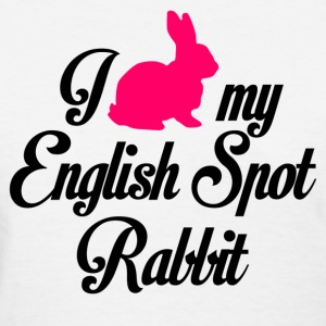 i love my english spot rabbit - Women's T-Shirt