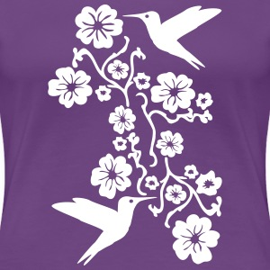 Hummingbirds and Flowers Women's T-Shirts - Women's Premium T-Shirt