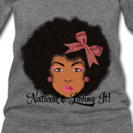 Design ~ SN&LI! Afro Fro Off the Shoulder Sweatshirt