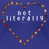 Design ~ I Ship It - Pixel Characters Heart Women's Tee