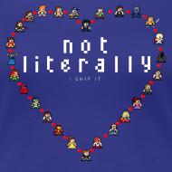 Design ~ I Ship It - Pixel Characters Heart Women's Tee