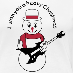 Metal snowman for white Women's T-Shirts - Women's Premium T-Shirt