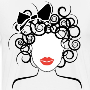 Global Couture logo_curly girl T-Shirts - Men's Premium T-Shirt