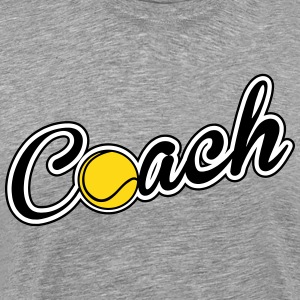 Tennis: Coach T-Shirts - Men's Premium T-Shirt