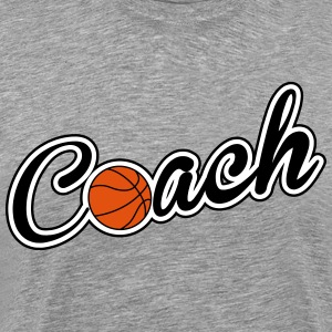 Baskettball Coach T-Shirts - Men's Premium T-Shirt