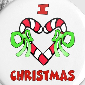 I Love Christmas Buttons - Large Buttons