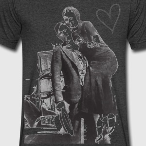 Bonnie & Clyde T-Shirts - Men's V-Neck T-Shirt by Canvas