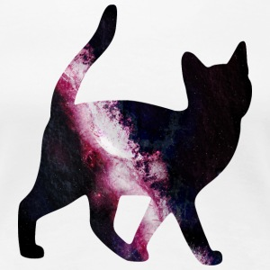 space cat Women's T-Shirts - Women's Premium T-Shirt