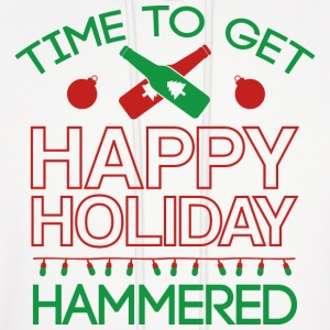 Time To Get Happy Holiday Hammered - Men's Hoodie
