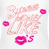 BLOWING MONEY LIKE KISSES - Women's Long Sleeve Jersey T-Shirt