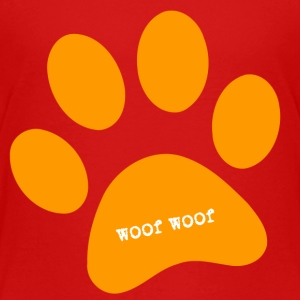 woof woog big paw - Toddler Premium T-Shirt