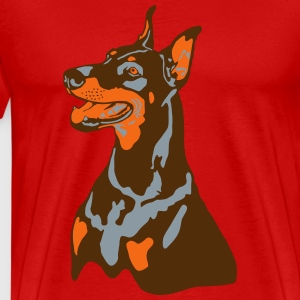 Dobermann Pinscher Sit T-Shirts - Men's Premium T-Shirt