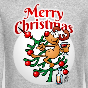 Reindeer in a Christmas tree Long Sleeve Shirts - Crewneck Sweatshirt