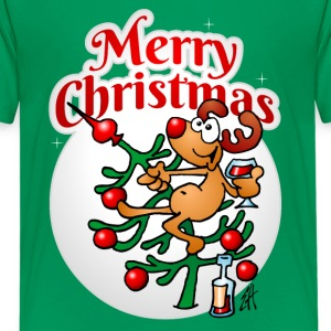 Reindeer in a Christmas tree Kids' Shirts - Kids' Premium T-Shirt