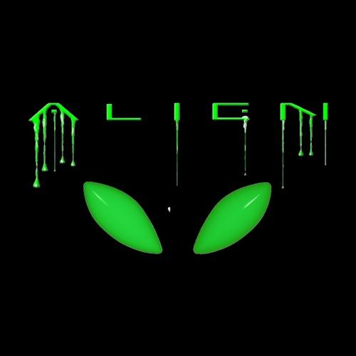 Alien Eyes and Alien Dribble Text