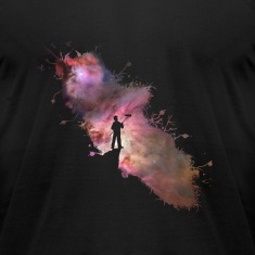 Starry sky painter supernova space star 03 T-Shirts