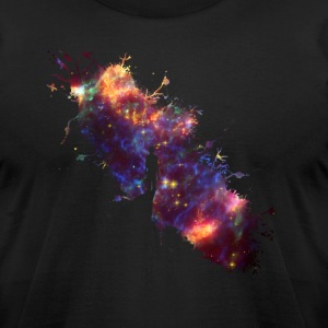 Starry sky painter supernova space star 04 T-Shirts - Men's T-Shirt by American Apparel