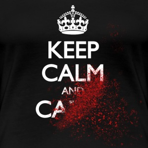 keep calm and carry on blood spatter zombie Women's T-Shirts - Women's Premium T-Shirt