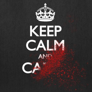 keep calm and carry on blood spatter zombie Bags & backpacks - Tote Bag