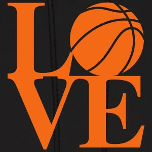Basketball love art Hoodies - Men's Hoodie