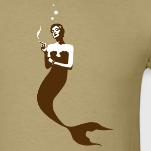 Smoking Mermaid T-Shirts - Men's T-Shirt