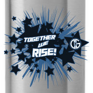 Design ~ Together to we Rise Stars Water Bottle