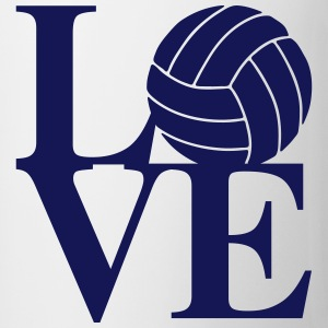 Volleyball Love Art Bottles & Mugs - Coffee/Tea Mug