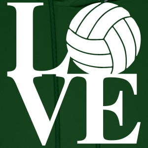 Volleyball Love Art Hoodies - Men's Hoodie