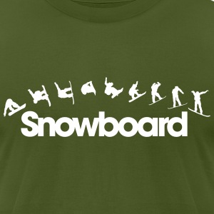 Snowboard T-Shirts - Men's T-Shirt by American Apparel