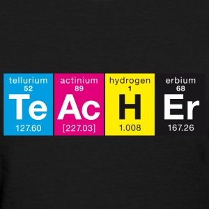 CMYK Colors TeAcHEr Elements - Women's T-Shirt
