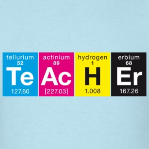 Elementary TeAcHEr CMYK colors style - Men's T-Shirt