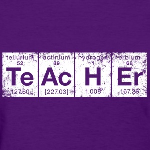 Distressed TeAcHEr Elements - Women's T-Shirt