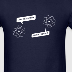 Lost an electron - white text - Men's T-Shirt