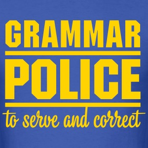 Grammar Police - Men's T-Shirt