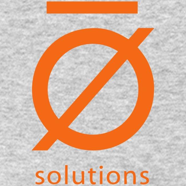 Silent O Long Sleeve Tee with Orange Logo