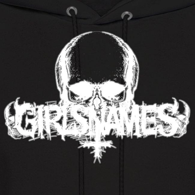 """GIRLS NAMES """"Skull"""" HOODIE"""
