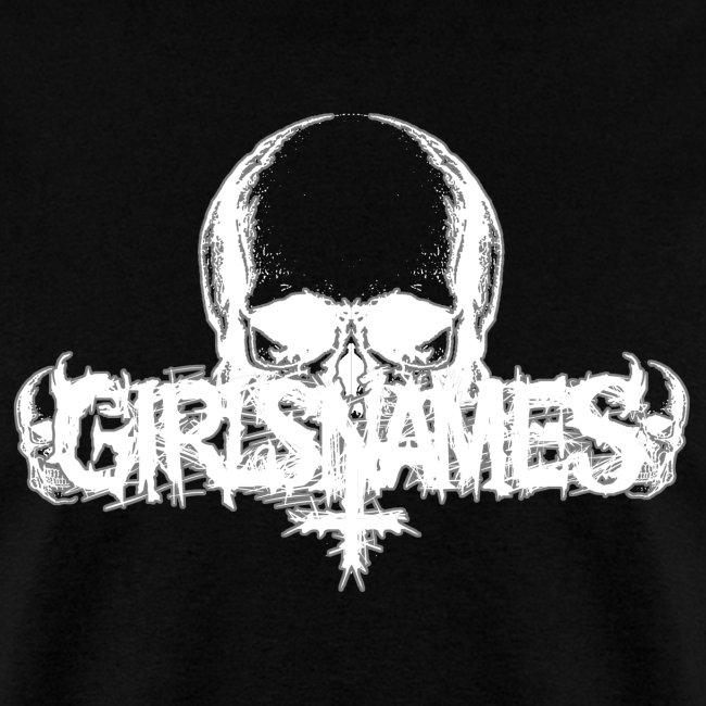 """GIRLS NAMES """"Skull"""" MENS TEE"""