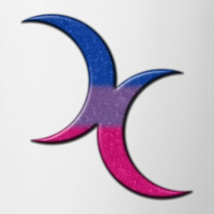 Crescent Moons Symbol - Bisexual Pride Flag Bottles & Mugs - Coffee/Tea Mug